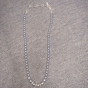 Blue Pearl with Diamond Necklace